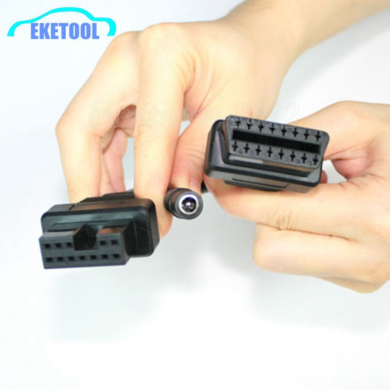 Hot Sale OBD OBDII Diagnostic Connector For Mitsubishi 12 Pin To OBD II Female 16Pin OBD1 Mitsubishi 12Pin Car Connector