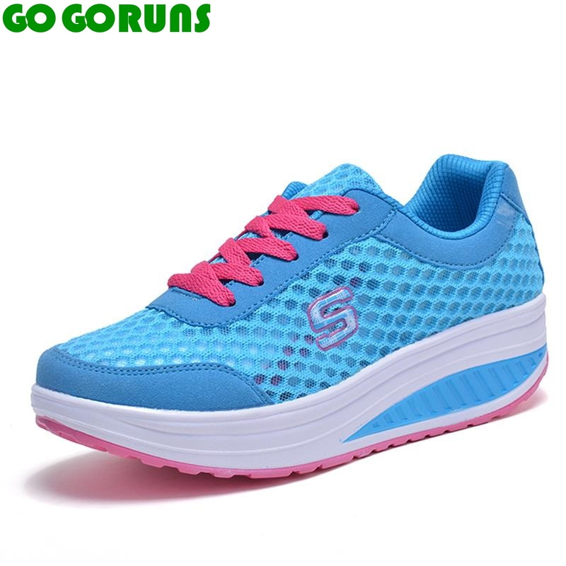Deporte al aire libre mujeres zapatillas de plataforma transpirable zapatos para