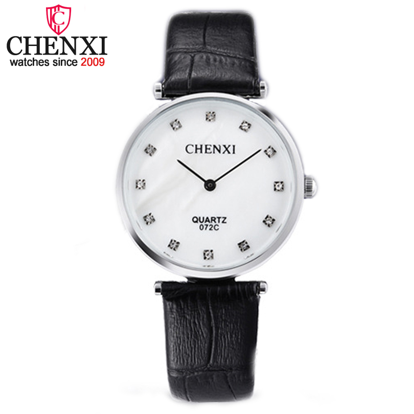 CHENXI Brand Casual Watch Style Women Wristwatch Fashion Outdoor Ladies Leather Luxury Designer Business Quartz Watches Female