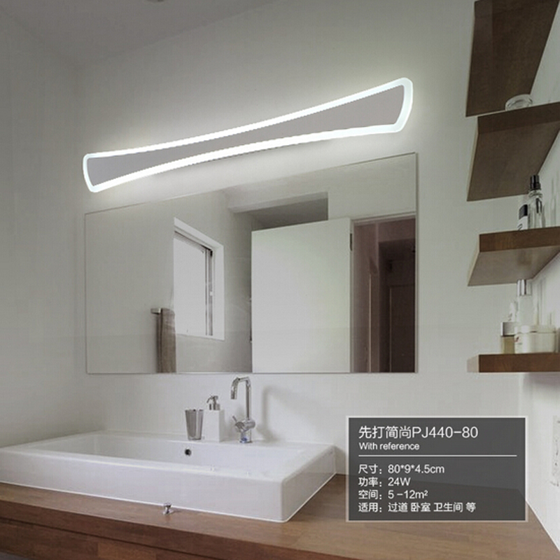 SinFull Modern Bathroom Toilet LED Front Mirror Lights Acrylic 24W Mirror Wall lamp L52CM Led Wall sconces 90-260VV lighting luxury modern white acrylic 12w led bathroom wall lamp mirror front fashion wall light showroom washroom wall lamp
