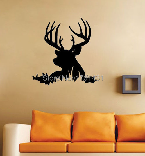 Marvelous Deer Head Silhouette Buck Hunting Wall Decals Vinyl Stickers Home Decor  Living Room Decorative Wallpaper Murals