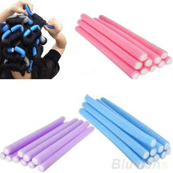 10Pcs/set Curler Makers Soft Foam Bendy Twist Curls Soft DIY Styling Hair Tool for Women's Accessories Random Color