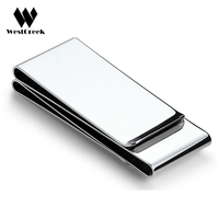 Exquisite Gift Brand Multifunction Men Women Stainless Steel Money Clip Slim Pocket Purse Cash Holder Clip