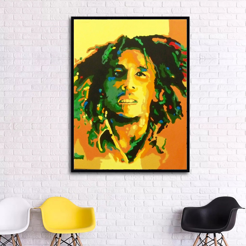 Impression Bob Marley Portrait print Oil Painting Canvas Paintings ...