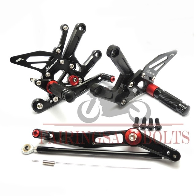 YZF R6 CNC Adjustable Rearset Footrests Pegs For Yamaha YZF R6 2006-2014 07 08 09 10 Motocyle Foot Rests Set  Black