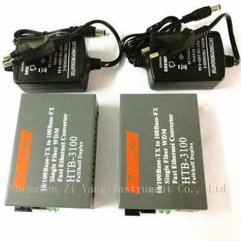 Htb-3100ab Optical Fiber Media Converter Fiber Transceiver Single Fiber Converter 25km SC 10/100M Singlemode Single Fiber 1 pair