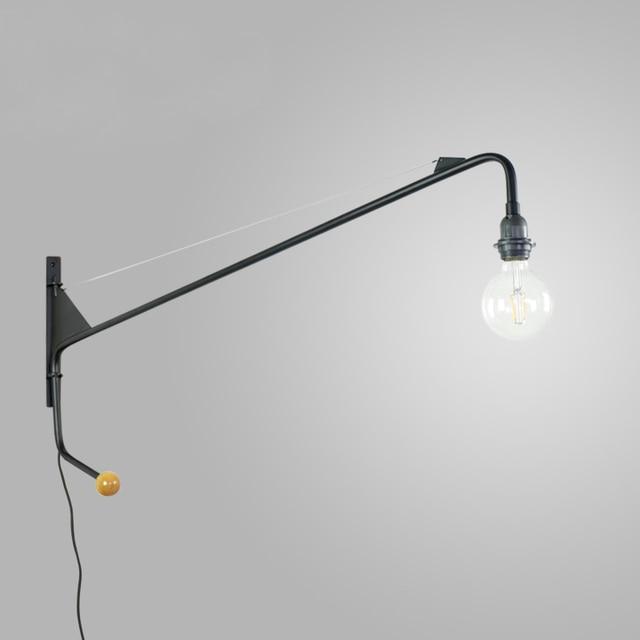 Vintage Amerikaanse Land Wandlamp Loft designer Jean Prouve Potence ...