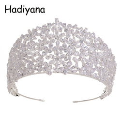 Hadiyana Luxury Bridal Flower Style Crown Hot Selling Women Tiara Wedding Engagement Jewelry Hair Ornaments Crowns HG6054