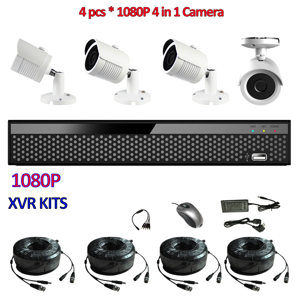 4CH 1080P AHD DVR Camera Security System For AHD H Camera Mini DVR Surveillance System CVI