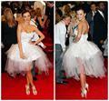 CBD-047 Miranda Kerr vestido de Baile Sem Alças Curto Branco Prom Vestidos Celebridade No Tapete Vermelho kim kardashian Vestido de Cocktail