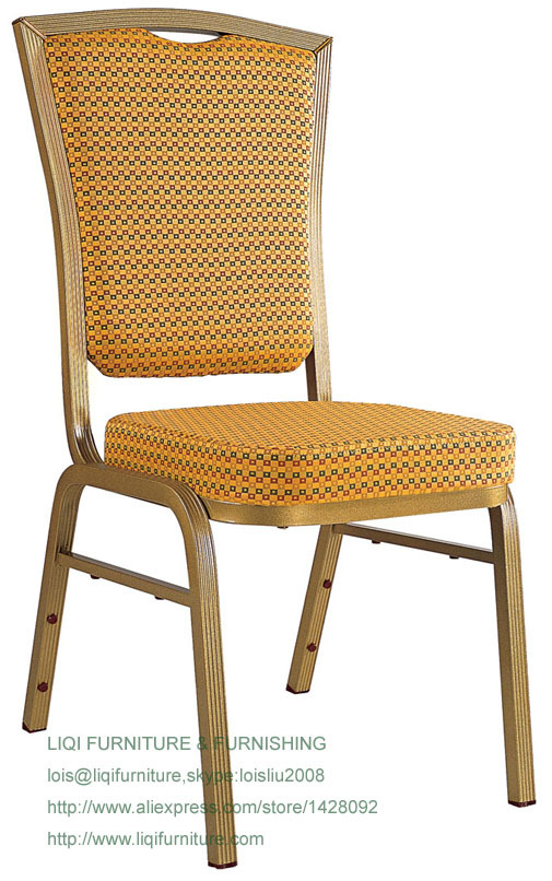 Wholesale Quality Strong Modern Aluminum Stacking Banquet Chairs LQ-L207