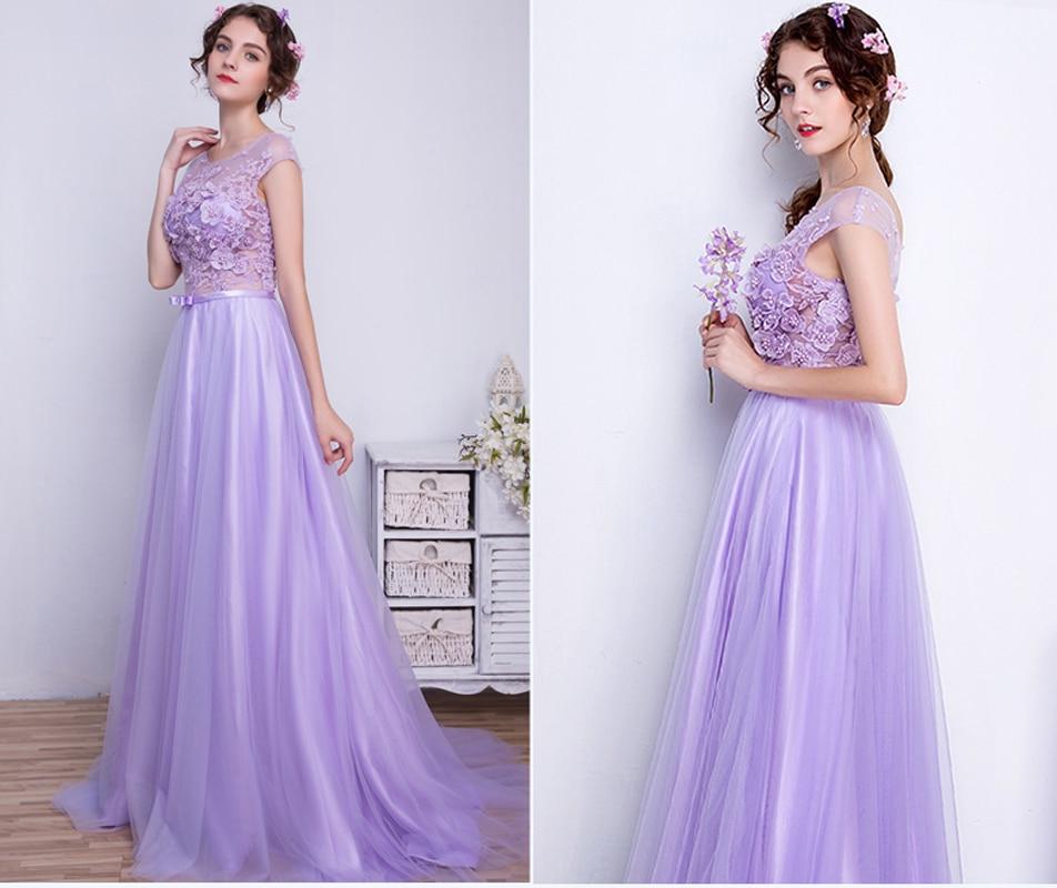 Wedding Gown Bra: Best Selling Purple Wedding Dresses Long High Quality