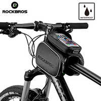ROCKBROS Cycling Bike Top Tube Bag Rainproof MTB Bicycle Frame Front Head Cell Phone Touch Screen Bag Pannier Bike Accessories