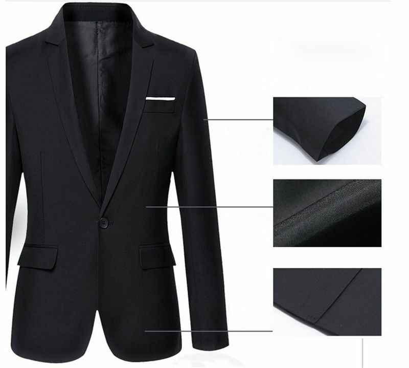 Masculino coreano casual fino ajuste formal um botão terno blazer casaco topos quente