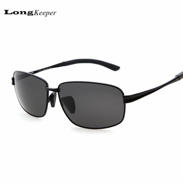LongKeeper Luxo Mens Óculos Polarizados Marca Designer Driving LKPZ2489 Eyewares para Das Mulheres Dos Homens de Metal Retro Óculos de Sol Do Esporte