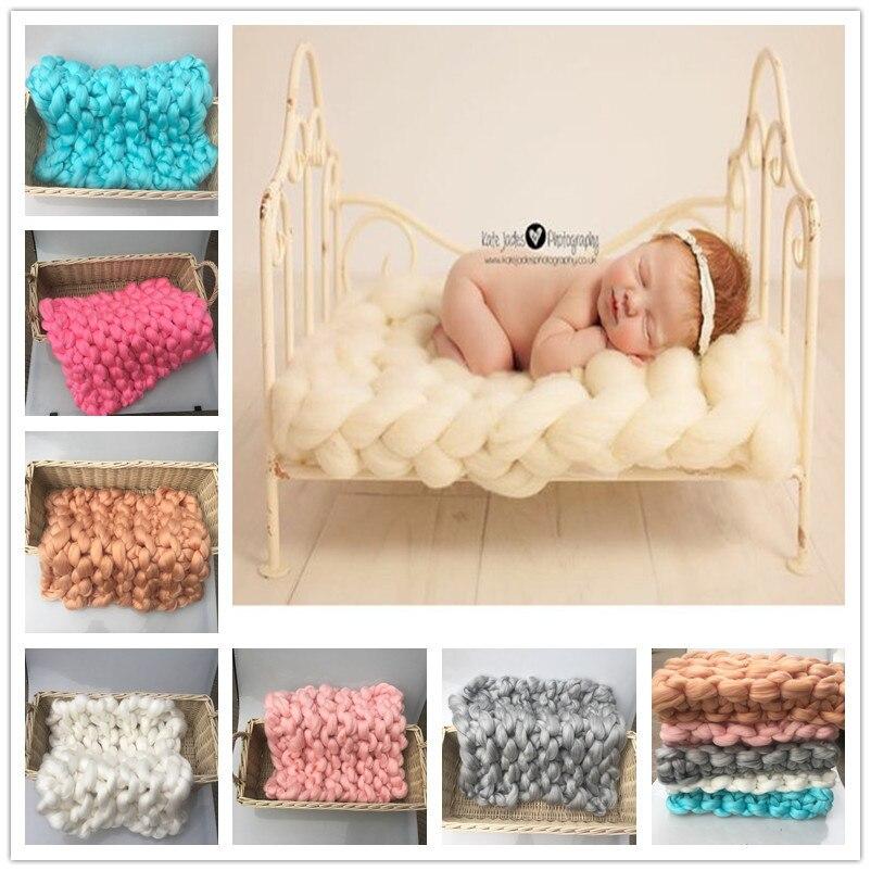 tejido a mano fotografa del beb manta suave sper gruesos de lana gruesa manta recin
