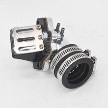 Впускной коллектор с тростниковый клапан для 2-х тактный Скутеры Мопед Minarelli 50 90 3KJ 4DM 1E40QMB 1E50QMF Vento застежкой-молнией