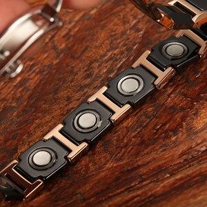 Image 3 - WelMag pulseras magnéticas de cerámica para hombre y mujer, brazaletes de cerámica negra, joyería de lujo, regalos de amistad