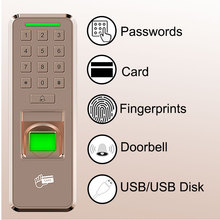 Eseye Fingerprint Door Lock  Access Control USB Access Control Keypad Reader Home Employee Device Entry Exit Record Door Lock direct factory with electric bolt lock keypad power supply exit switch keys door access control system kit full set