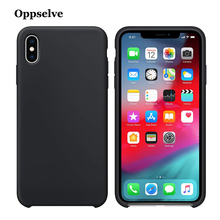 Oppselve Liquid Silicone Case For iPhone XS Max XR X Gel Rubber Phone Cover Protective 8 7 6 6S Plus Coque Capa