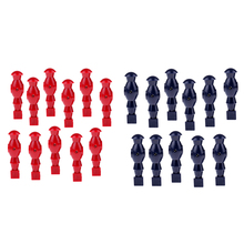 11 Pieces Table Soccer Player Foosball Table Men Player Man Guys for 1.2m Foosball Table Red Dark Blue недорого