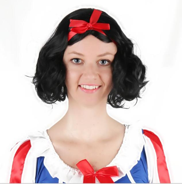Snow White Princess Costume Wigs Halloween Lady Cosplay Wig Carnival Party  Women Cosplay Party Supplies baf0df50da