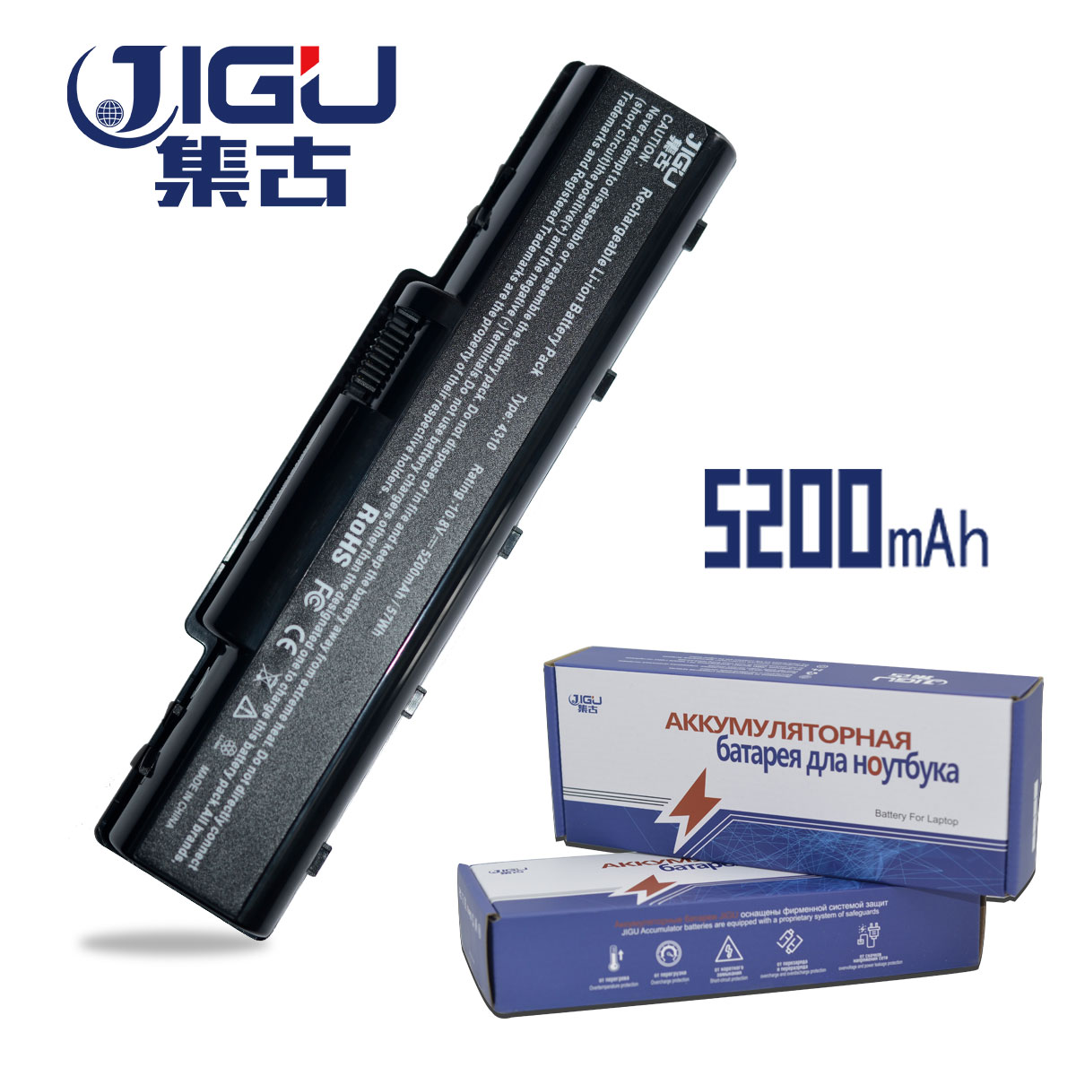 JIGU Laptop Battery For Acer AS07A51 AS07A75 Aspire 5738 5738G 5738Z 5738ZG AS5740 2930 4310 4520 4530 4710 4720 4730 4920 5740 10 8v 11 1v 12 cell laptop battery pack for acer aspire 5340 5542 5738z 5740 as5740 as5542 as07a75