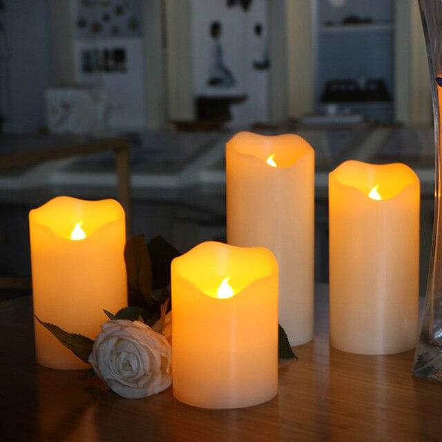 Bougie Led en cire de paraffine électrique sans flamme, bord irrégulier, pour fête de mariage, maison, noël, décoration et belle veilleuse Bougies Éclairage Cocooning.net