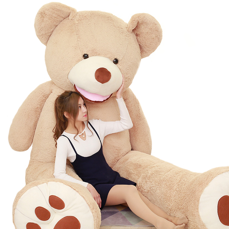 1pc huge size 160cm American giant bear skin plush toy stuffed soft Teddy bear animal coat for baby adult lover birthday gift giant teddy bear soft toy 160cm large big stuffed toys animals plush life size kid baby dolls lover toy valentine gift lovely