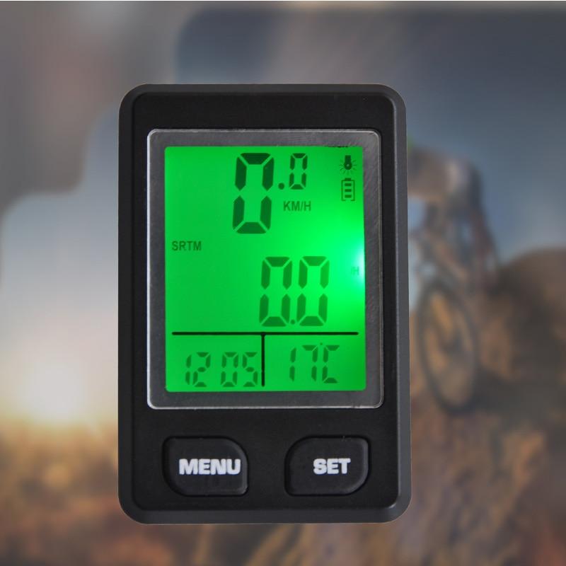 Multifunction Large-screen digital LCD Backlight Wired Waterproof Bicycle Odometer Bike Speedometer Bicycle Stopwatch