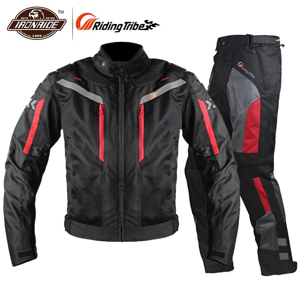 Équitation tribu Moto veste hommes respirant Moto pantalon Moto veste coupe-vent Moto Cruiser Touring vêtements imperméable