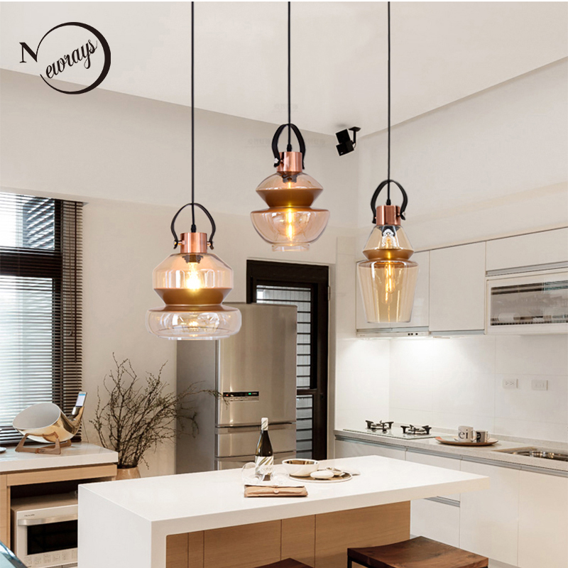 Modern industrial personality glass pendant light E27 LED pendant lamp for living room dining room bedroom restaurant cafe hotel modern colorful aluminum pendant light led e27 220v hanging lamp for living room restaurant dining room hotel cafe bedroom bar