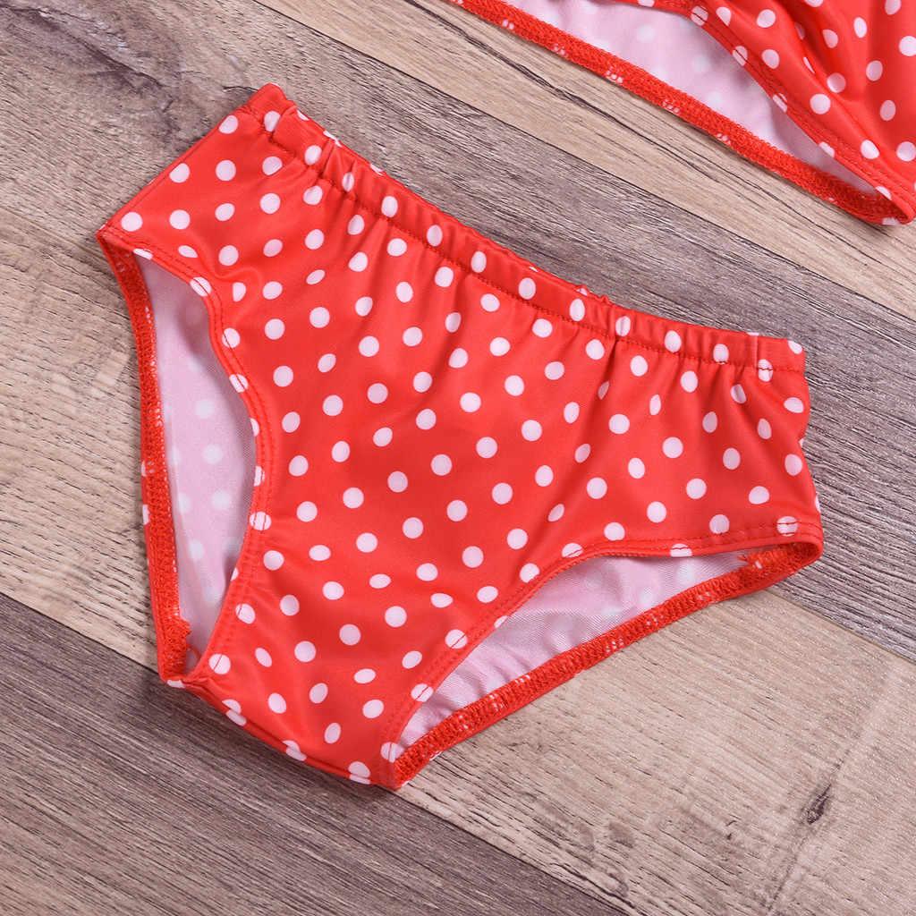Дети; детская одежда в горошек; с украшением в виде бантика-штучный купальник купальный костюм набор для волос Bebek костюм Mayo Da Bagno Ragazza 19MAY19 P35