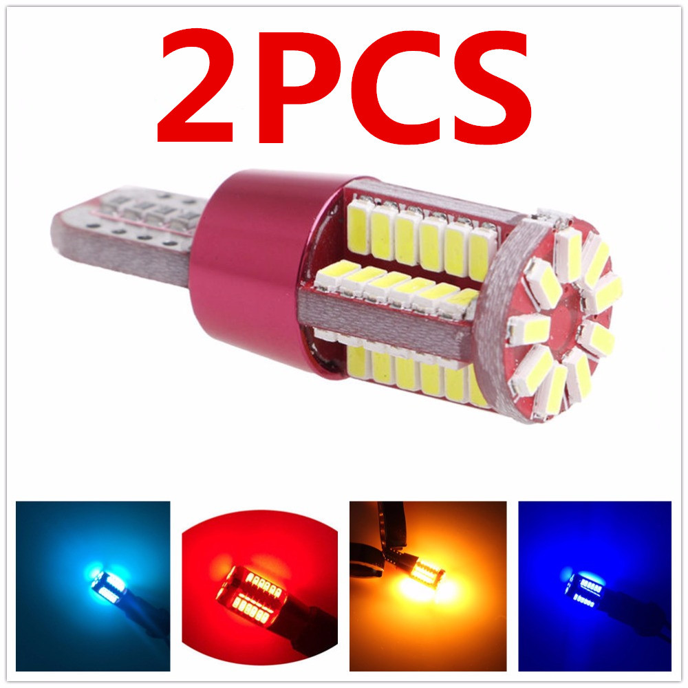 2X Red T10 T15 168 192 2825 W5W W16W 57 smd led CANBUS NO Error Auto Clearance Light bulb parking Turn Signal Lamp цена и фото