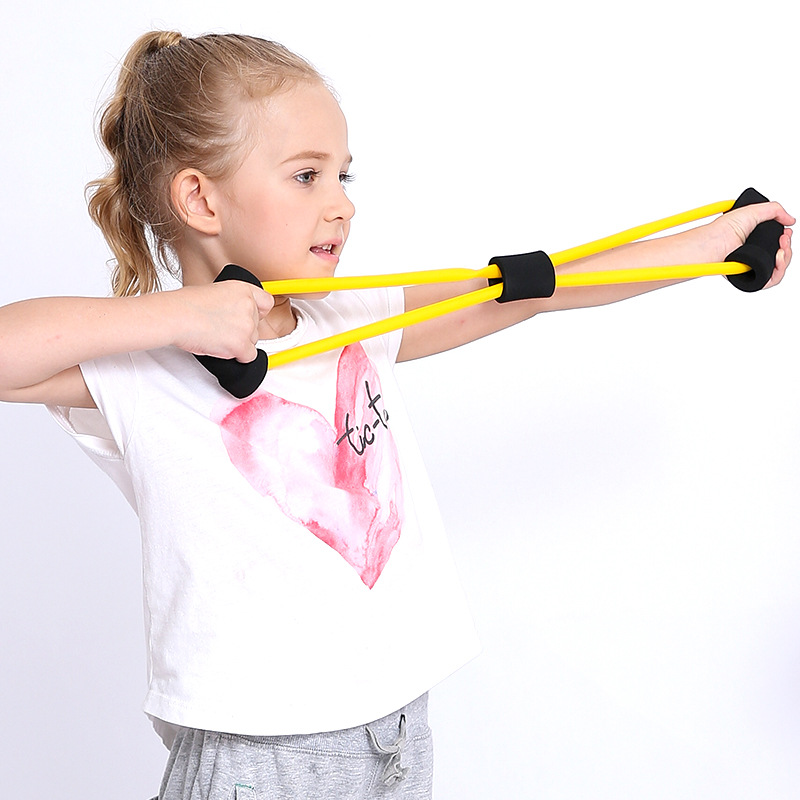 Safety Kids Sport Toy Fitness Band Home Gym Workout Non-slip Yoga Resistance Bands Strength Training Family Game Chest Developer