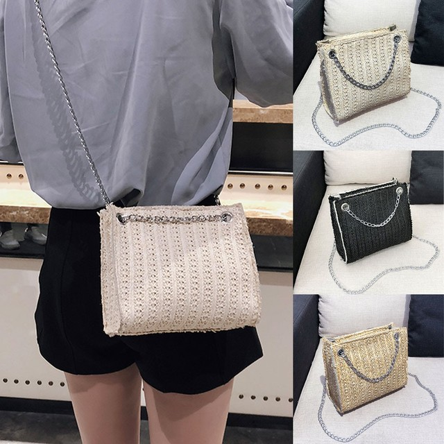 De Moda Paja Del Bolso Bag Messenger Crossbody Mujer ETqrTpS6