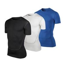 Mens Quickly Compression Sportswear Fitness Tights Gym Demix Costume Running T-Shirt Workout Rashgard Man Shirt