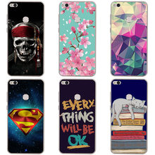 soft tpu phone case colour Mobile phone shell For huawei honor 8 Lite Soft silicon Phone Case colorful painting skin shell(China)
