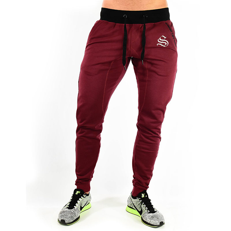 Gold men's sweatpants 2018 summer gyms men's fitness trousers fashion embroidered street men's casual pants trend men's clothing