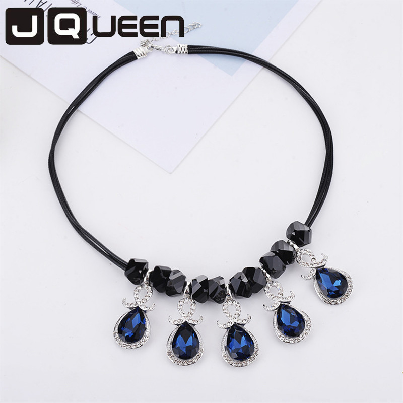 Fashion Alloy Rhinestone Resin Elegant Charm Geometric Shape Jewelry Wholesale Chokers Necklaces For Women Accessories