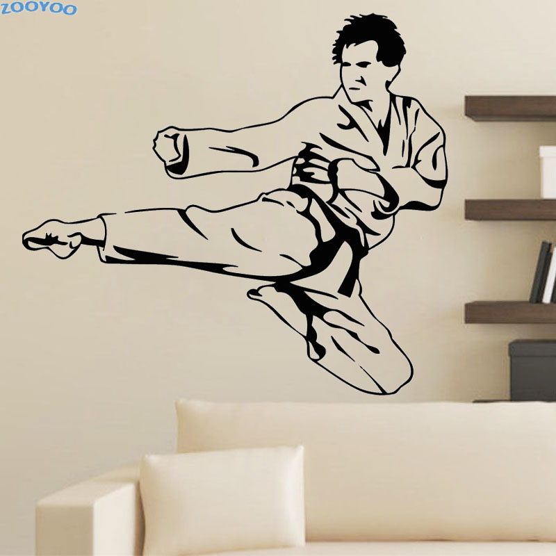 Compare prices on karate window decals online shopping for Sports decals for kids rooms