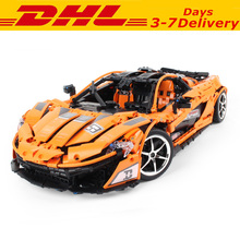 DHL Technic DIY Moc Concept Sports Cars P1 Building Blocks Kit Bricks Sets Classic Model MP4-12C Toys Gifts dhl lepin 05083 star classic wars moc series the nebulon b medical frigate set building blocks bricks funny toys model legoed