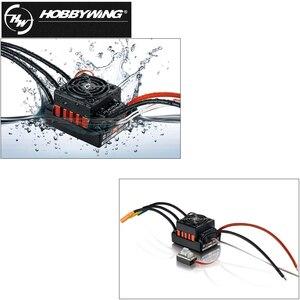 Image 3 - 1 adet orijinal Hobbywing QuicRun WP 10BL60 sensörsüz fırçasız hız kontrolörleri 60A ESC 1/10 Rc araba için
