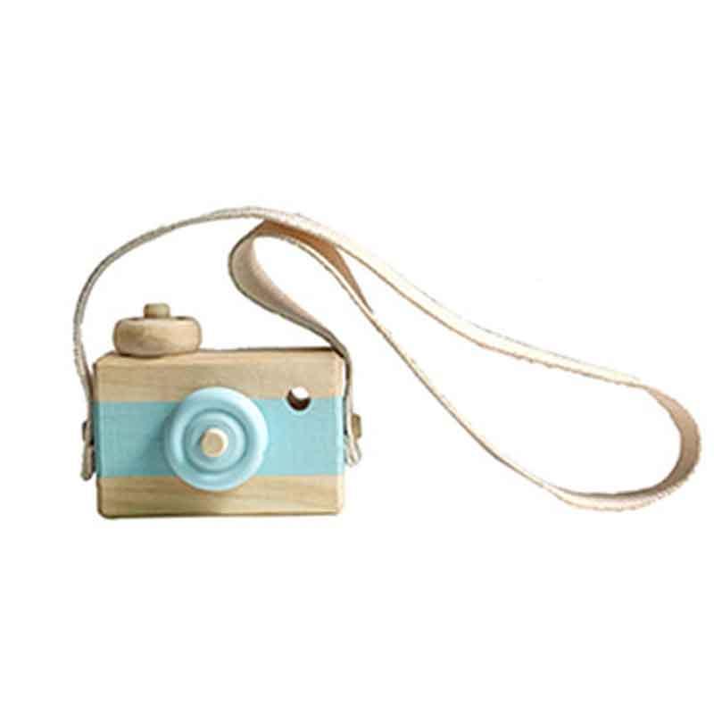 Скандинавский Европейский стиль камера Игрушки для маленьких детей декор комнаты предметы мебели ребенок Рождество День рождения деревянные подарки - Цвет: blue