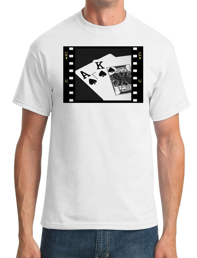 Poker Hand Black Jack Ace King - Mens T-Shirt ...