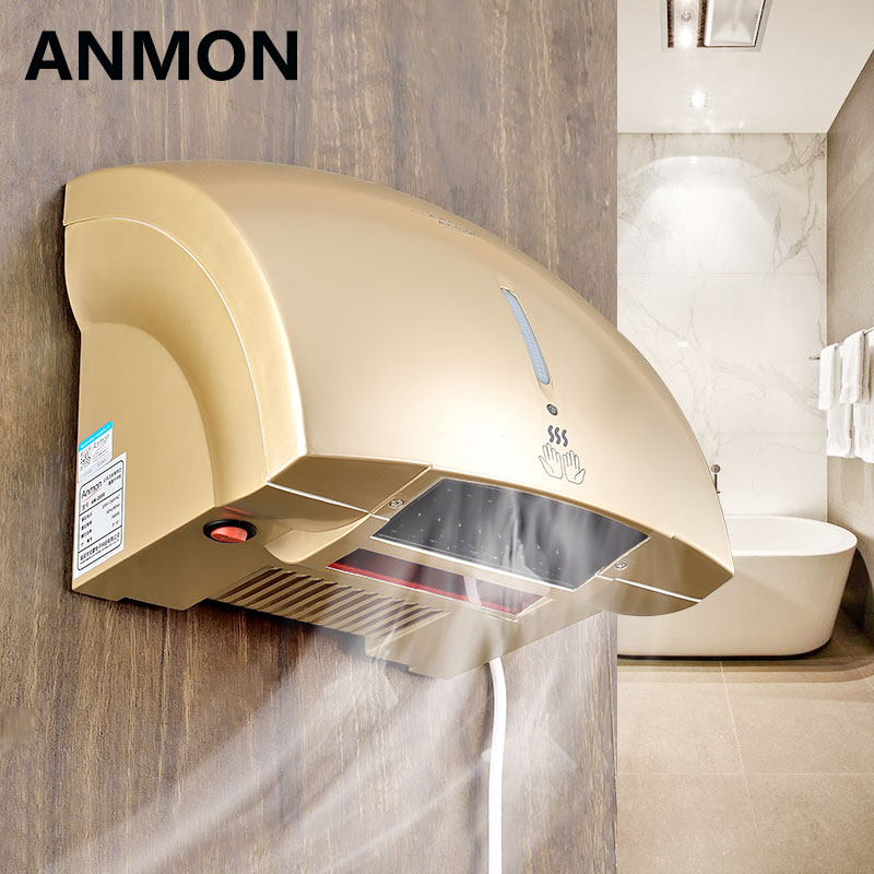 Automatic Infrared Hand Dryer Suited for Hotel Household Bathroom Airpot Hot and Cold Blowing Hands Machine Electric Hand Dryer