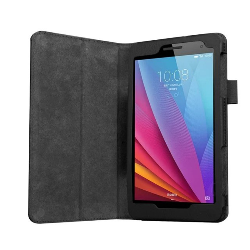 New PU Leather Litchi Pattern Flip Stand Case For Huawei Mediapad T1 7.0 T1-701U/W T2 7.0 BGO-DL09 BGO-L03 Magnetic Folio Cover