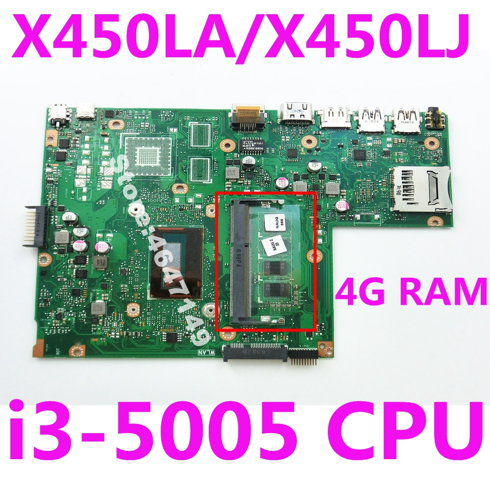 X540LA i3-5005 CPU 4GB RAM Mainboard REV 2.0 For <font><b>ASUS</b></font> <font><b>X540</b></font> X540L X540LA X540LJ laptop <font><b>motherboard</b></font> X540LA <font><b>Motherboard</b></font> 100% Tested image