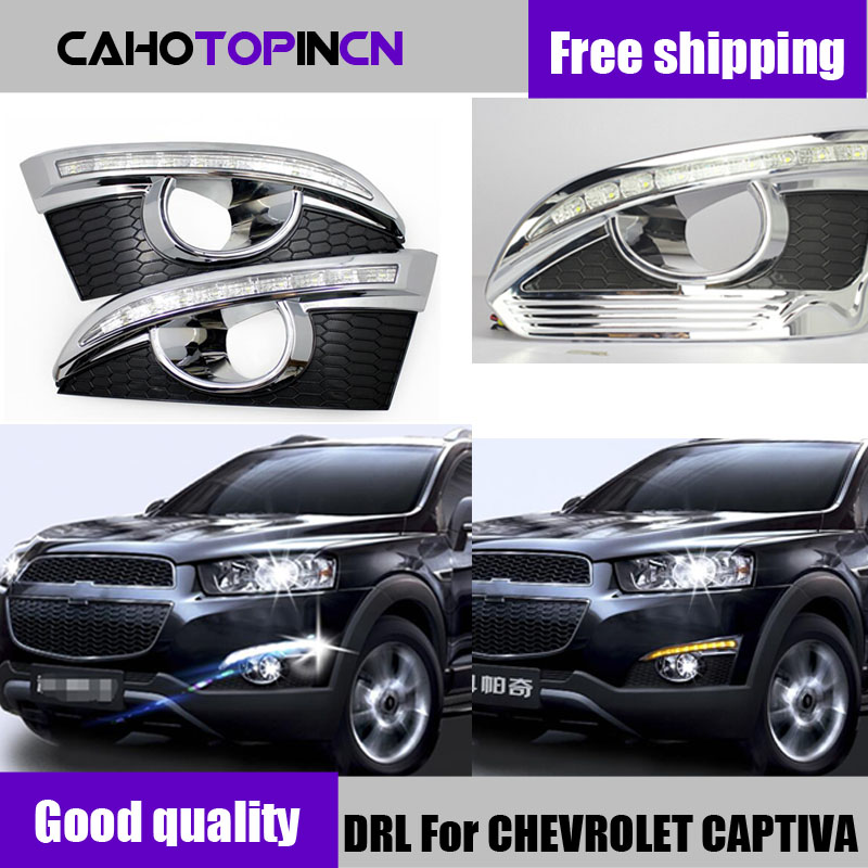 DRL For CHEVROLET CAPTIVA 2011 2016 Turn Signal Relay Car styling 12V LED Daytime Running Lights
