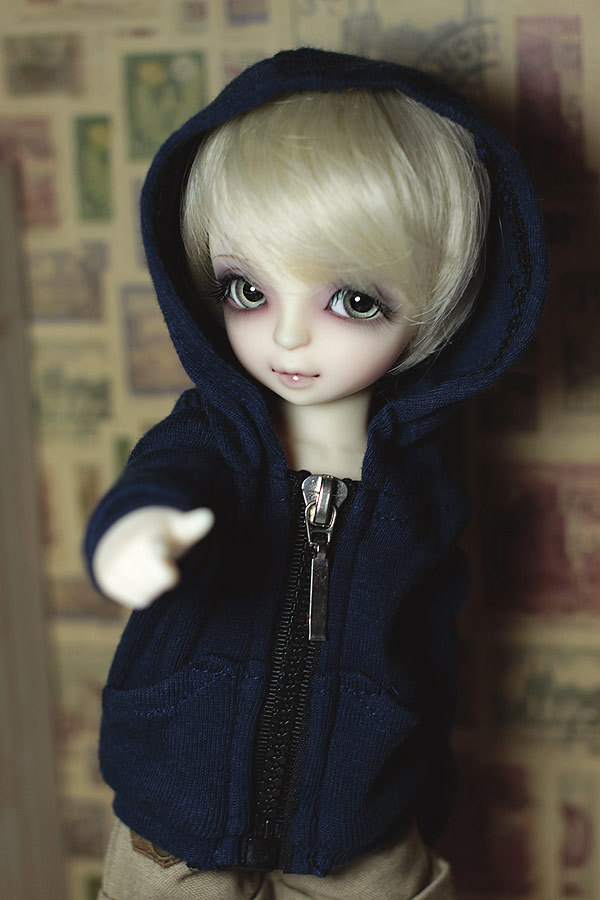 все цены на Fashion dark blue  coat  For BJD YOSD 1/6  Doll Clothes Accessories онлайн